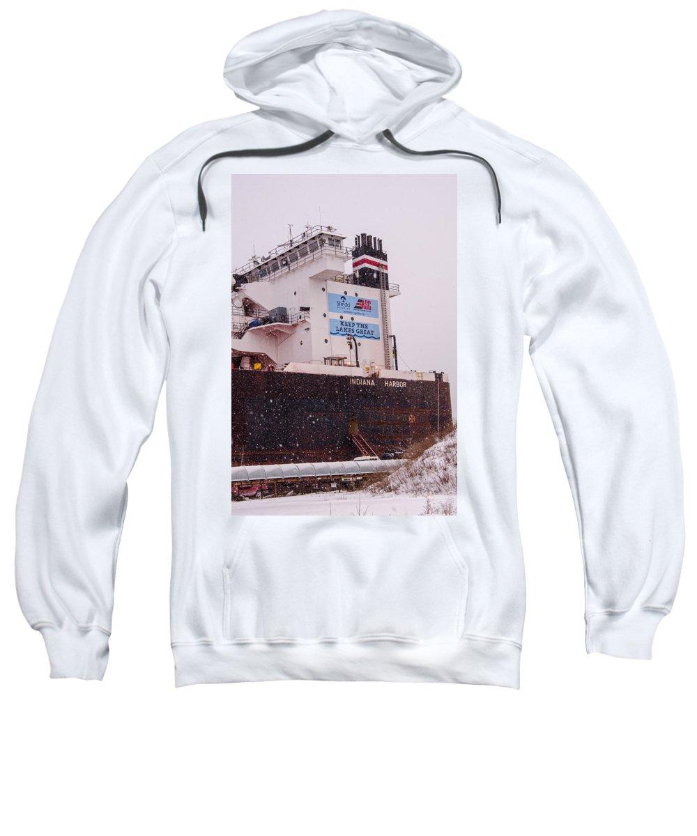 Indiana Harbor Sweatshirt featuring the photograph Indiana Harbor 2 by Susan McMenamin
