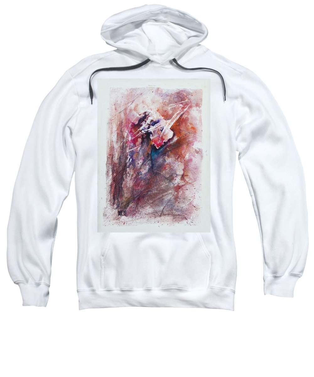Abstract Sweatshirt featuring the painting Inner Conflict by Rachel Christine Nowicki