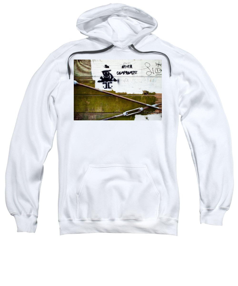 Always Sweatshirt featuring the photograph Inspirational Graffiti by Mary Smyth