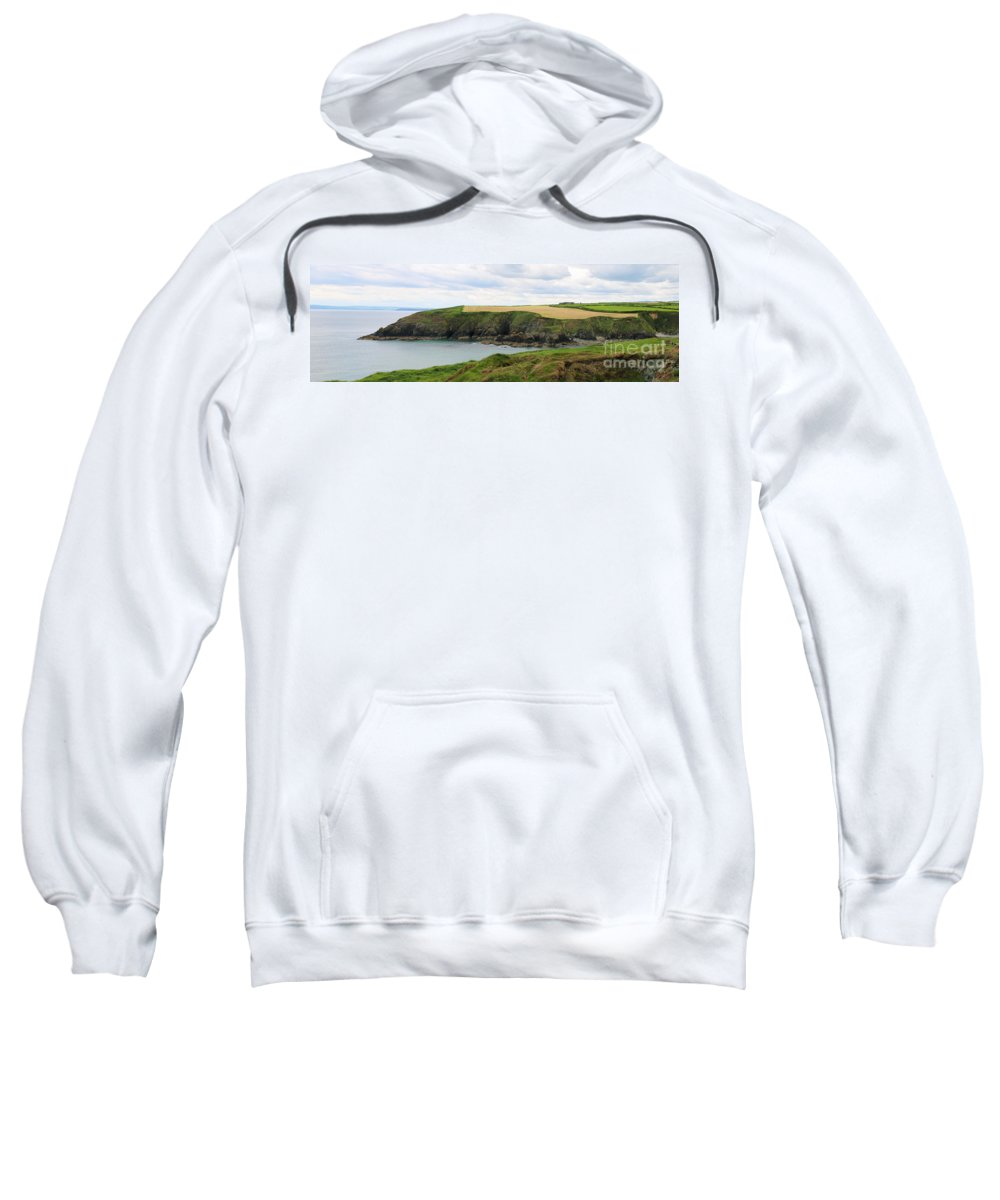 Ireland Sweatshirt featuring the photograph Ireland Coast Panorama by Jack Schultz