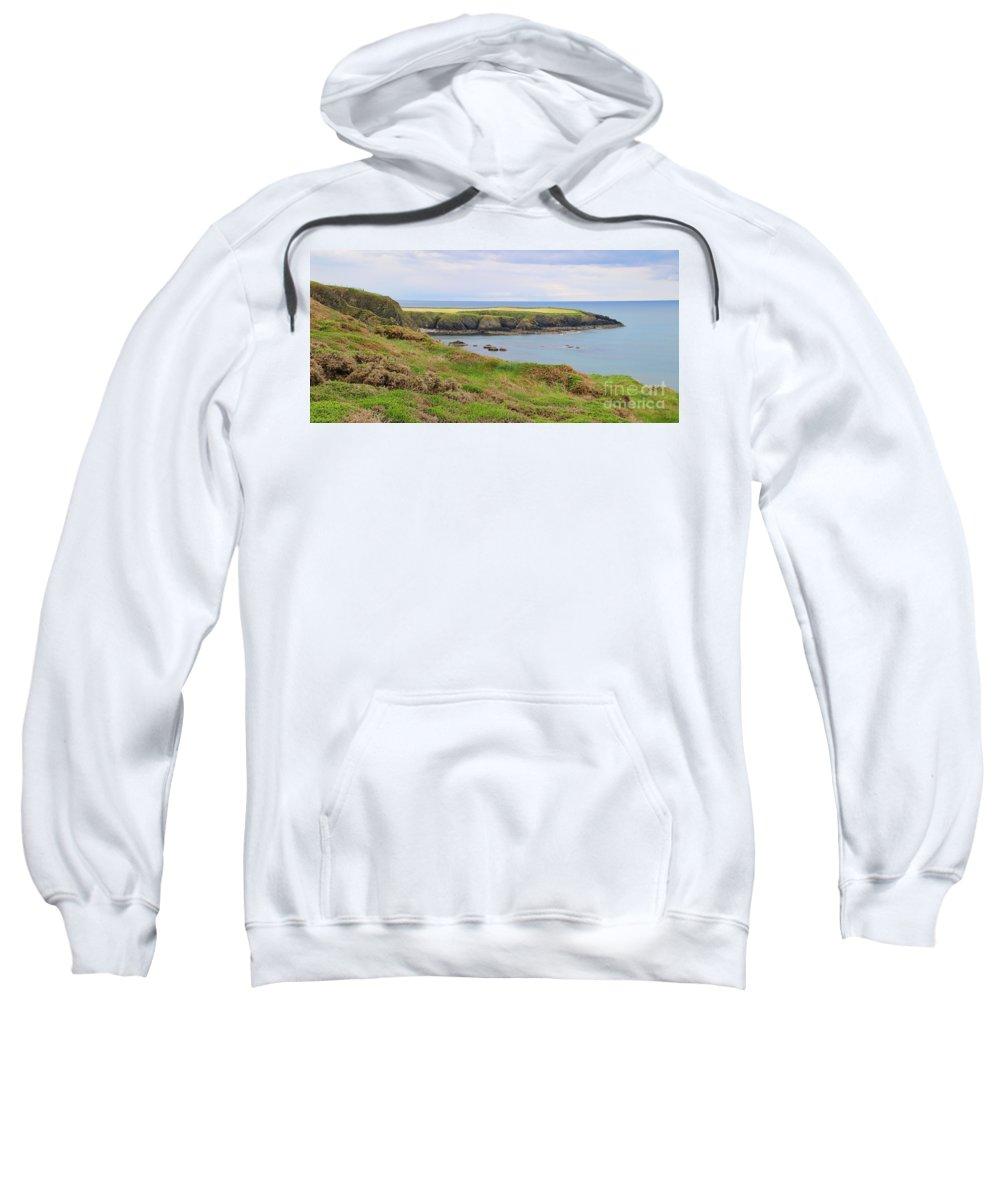 Ireland Sweatshirt featuring the photograph Ireland Coastline Panorama by Jack Schultz