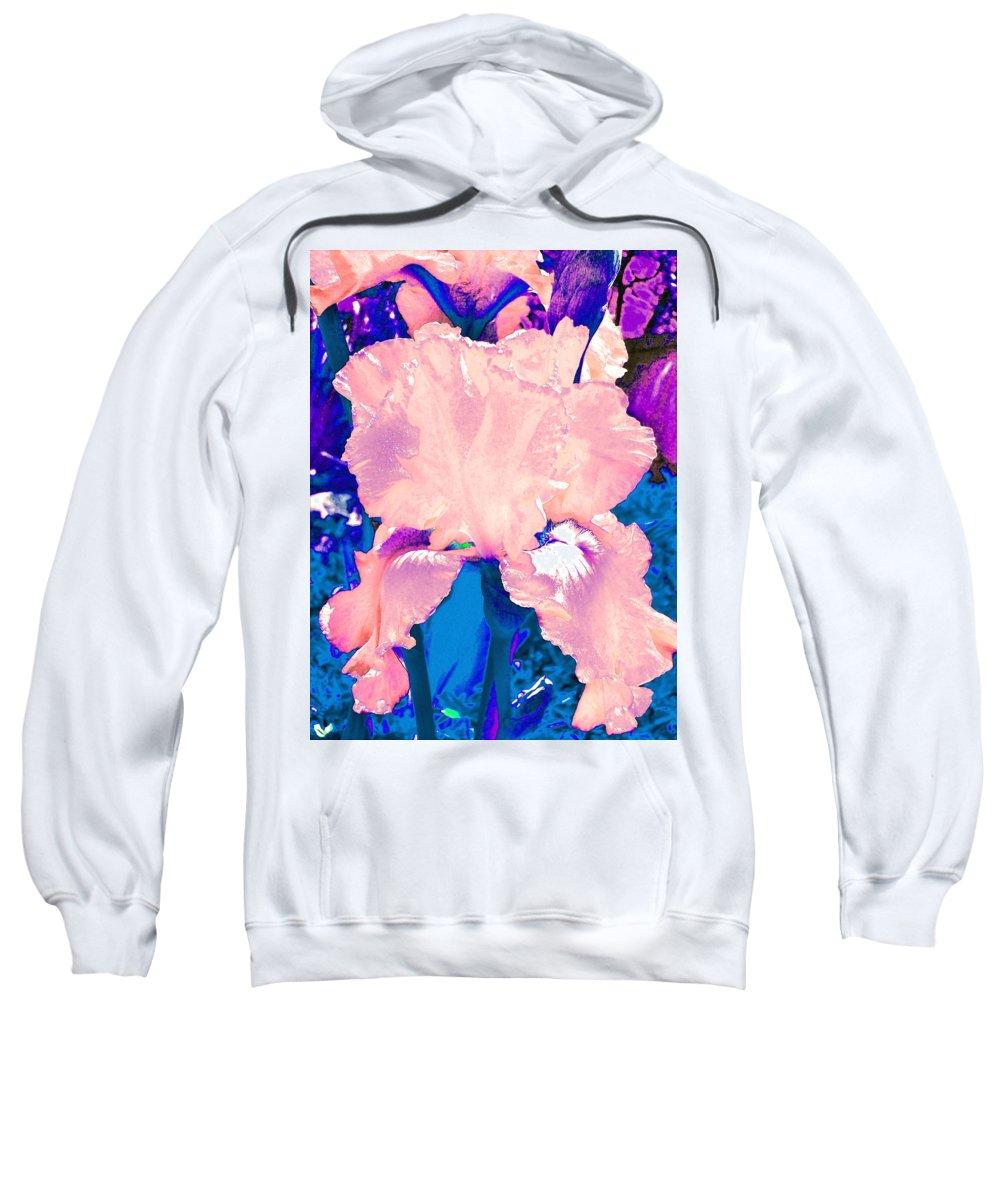 Flowers Sweatshirt featuring the photograph Iris 9 by Pamela Cooper