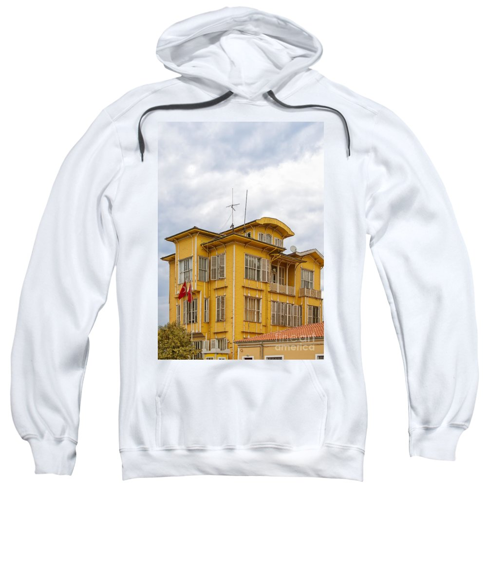 Turkey Sweatshirt featuring the photograph Istanbul Wooden Houses 04 by Antony McAulay