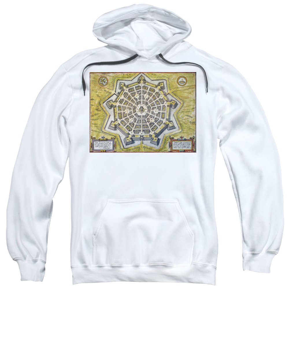 1598 Sweatshirt featuring the photograph Italy: Palmanova Map, 1598 by Granger