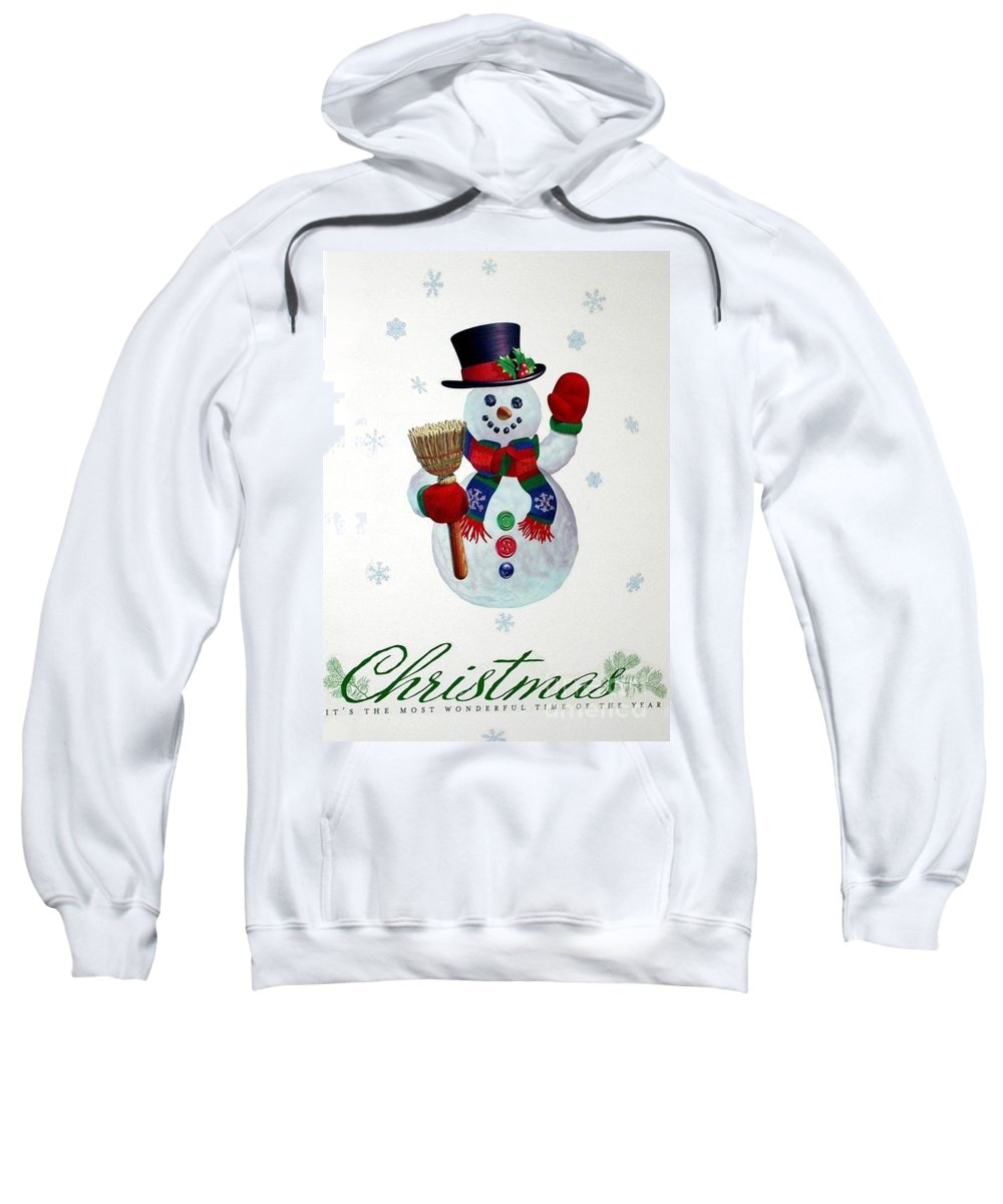 Christmas Sweatshirt featuring the photograph It's The Most Wonderful Time Of The Year by Living Color Photography Lorraine Lynch