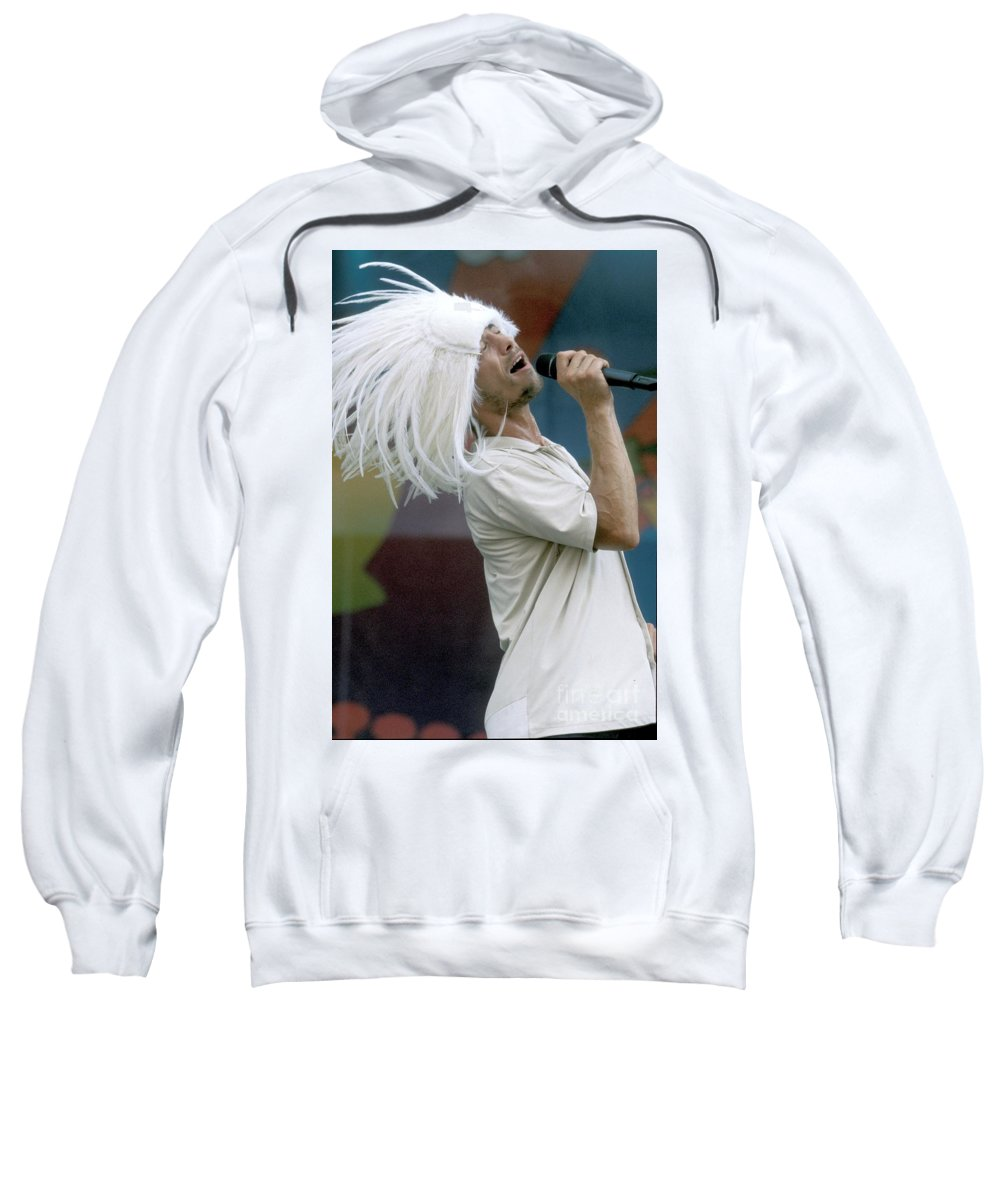 Vocals Sweatshirt featuring the photograph Jamiroquai by Concert Photos