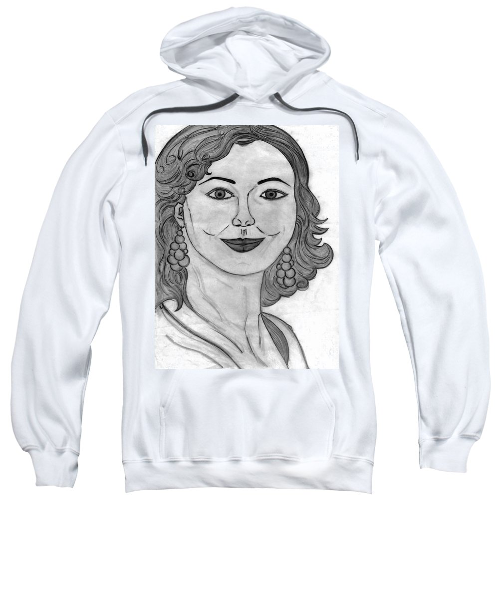 Portrait Sweatshirt featuring the painting Janka by Alex Art and Photo