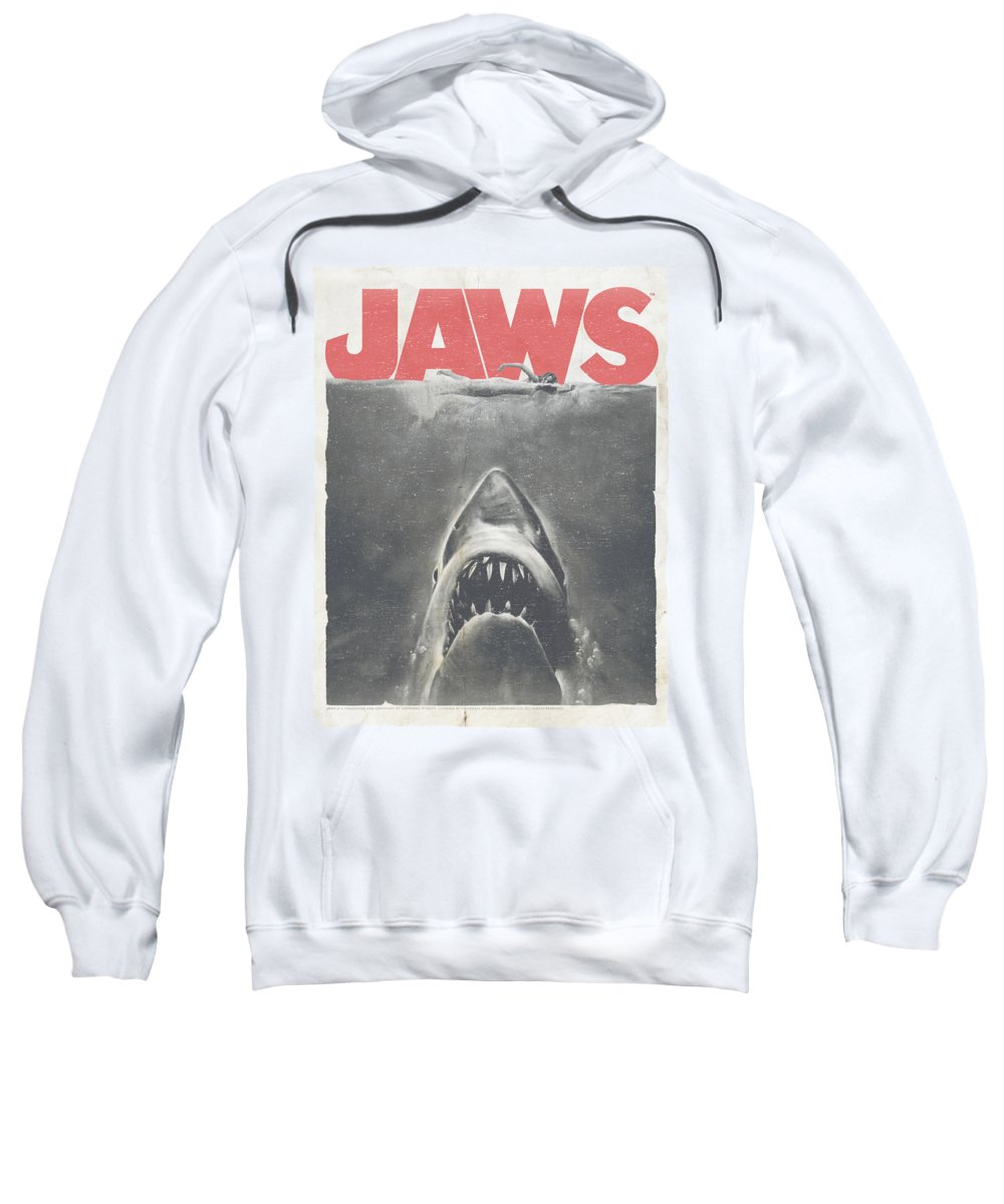 Jaws Sweatshirt featuring the digital art Jaws - Classic Fear by Brand A