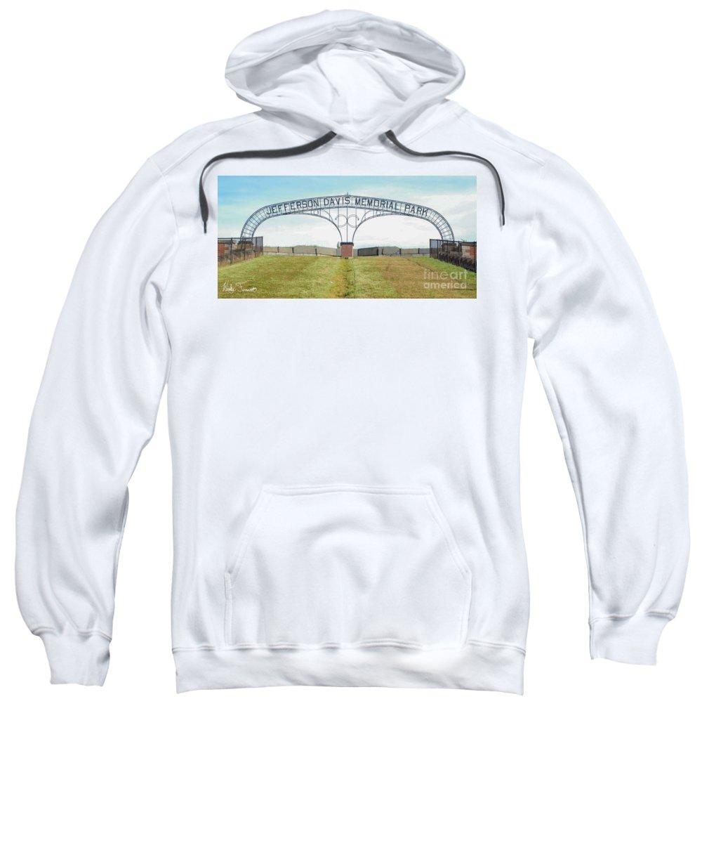 Park Sweatshirt featuring the photograph Jefferson Davis Memorial Park by Wesley Farnsworth