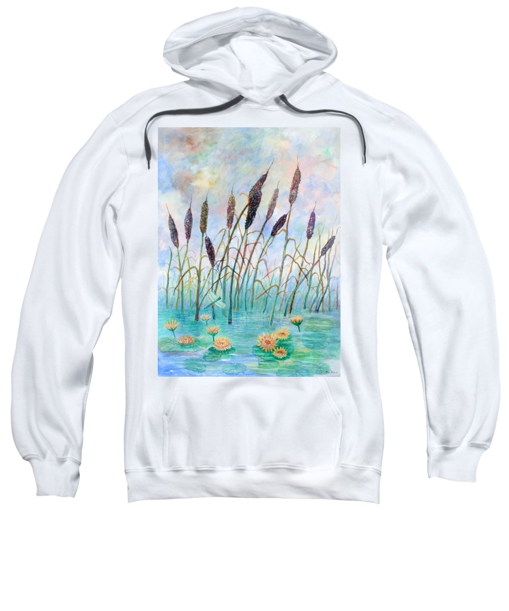 Pond Sweatshirt featuring the painting Joy Of Summer by Ben Kiger