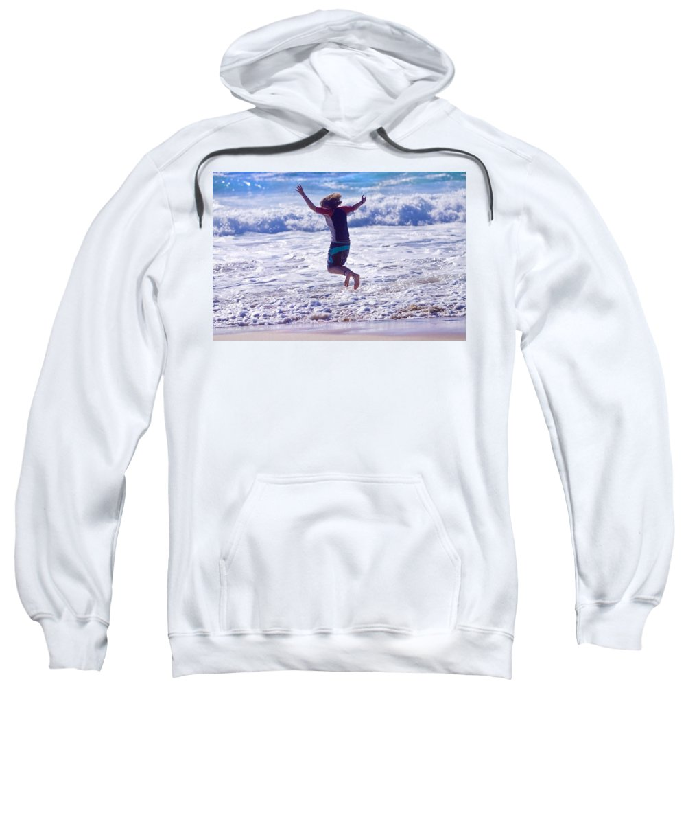 Jump Sweatshirt featuring the photograph Jump by Michelle Wrighton