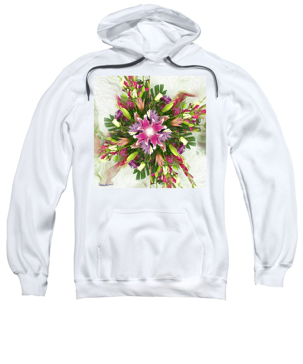 Floral Sweatshirt featuring the digital art Old Fashion by Dana Haynes