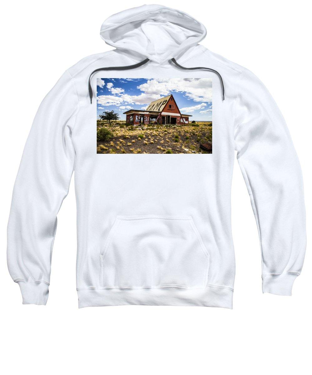 Route 66 Sweatshirt featuring the photograph Kamp by Angus Hooper Iii