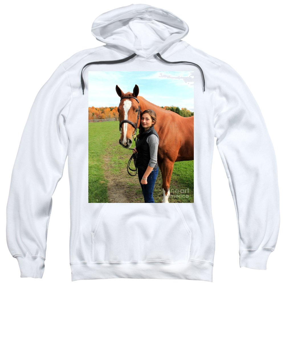 Sweatshirt featuring the photograph Katherine Pal 12 by Life With Horses