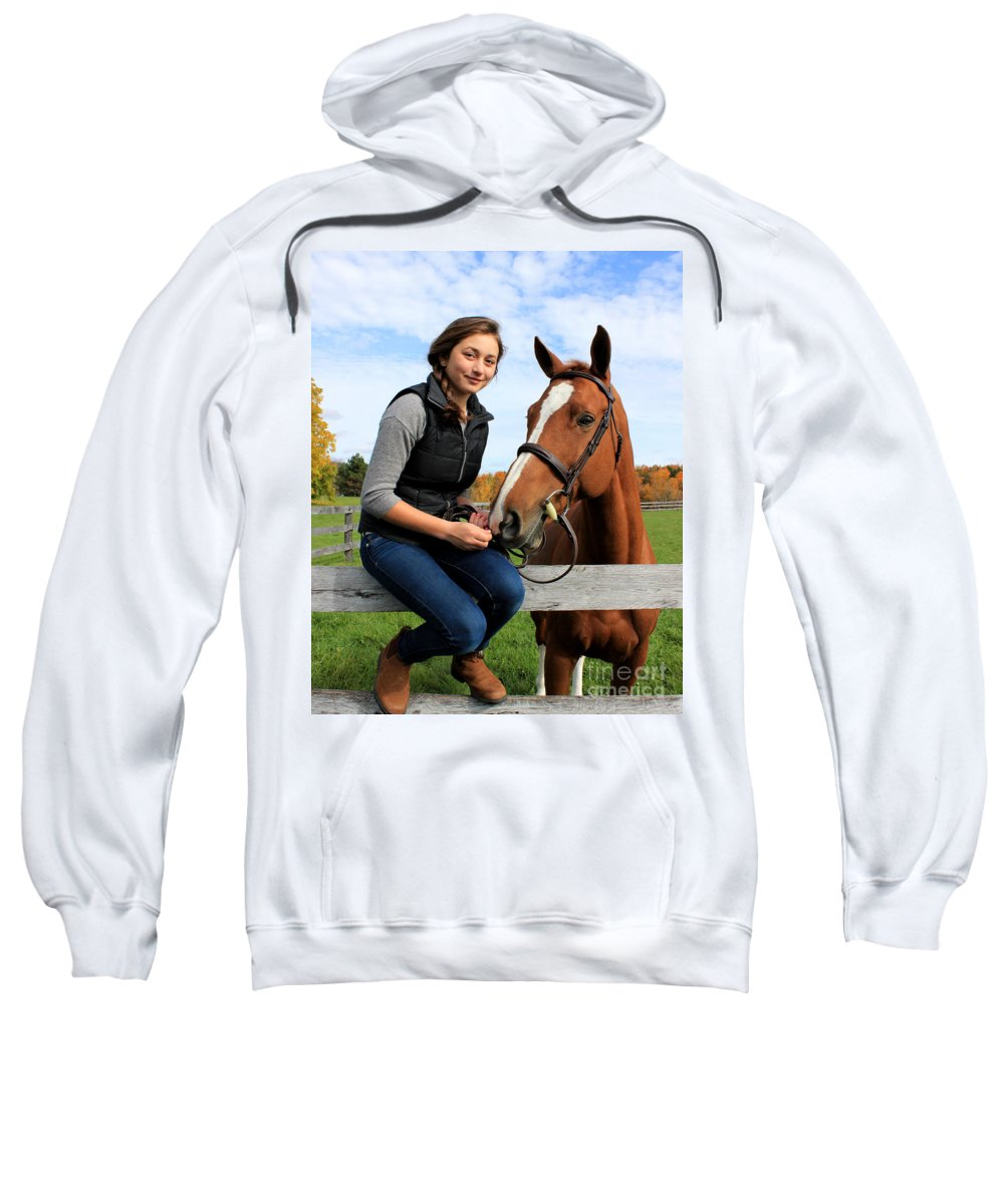 Sweatshirt featuring the photograph Katherine Pal 15 by Life With Horses