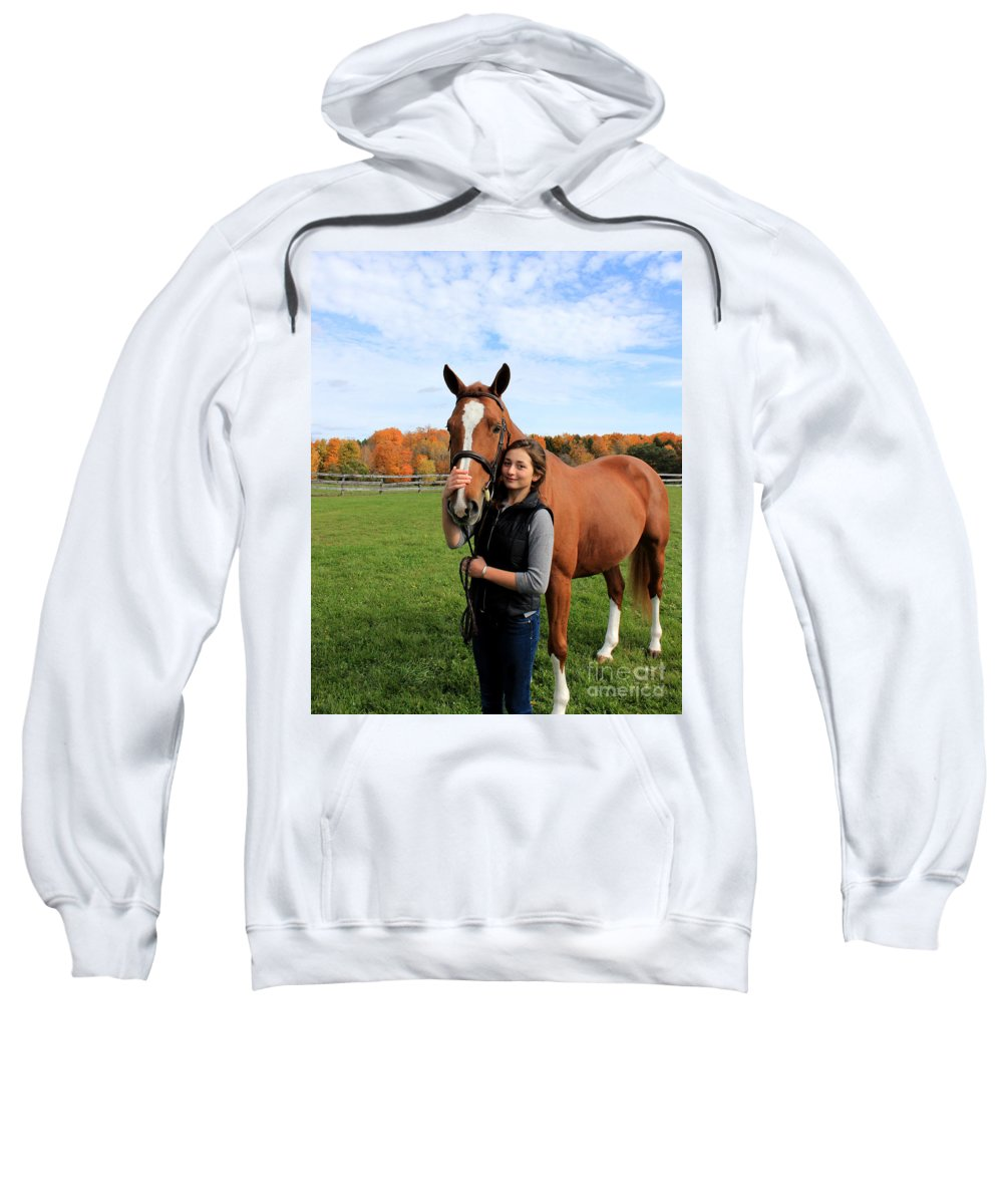 Sweatshirt featuring the photograph Katherine Pal 18 by Life With Horses