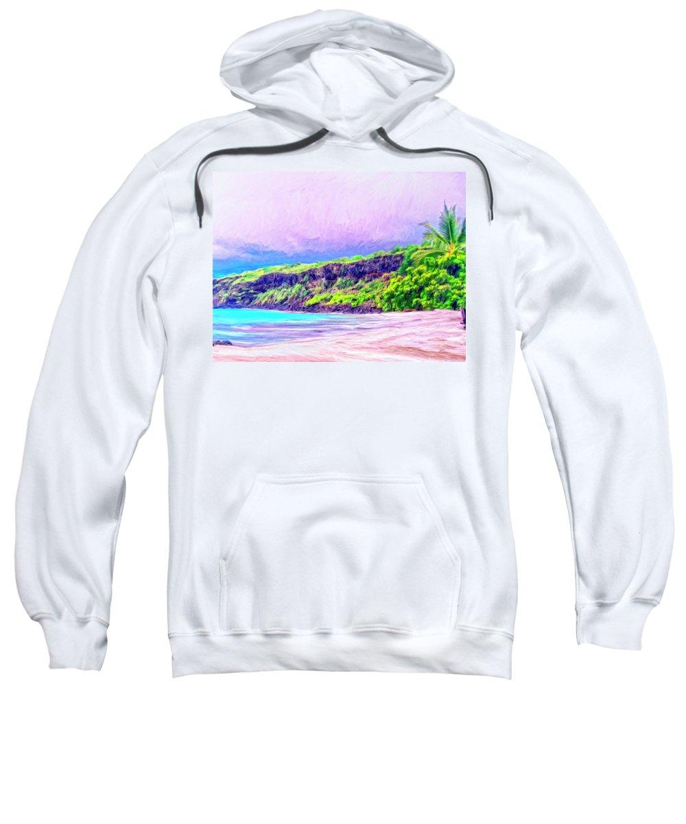 Kealakekua Morning Sweatshirt featuring the painting Kealakekua Morning by Dominic Piperata