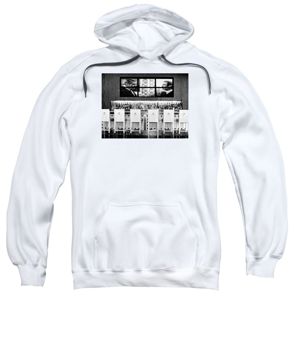 Riviera Sweatshirt featuring the photograph Keep Drinking Men Palm Springs by William Dey