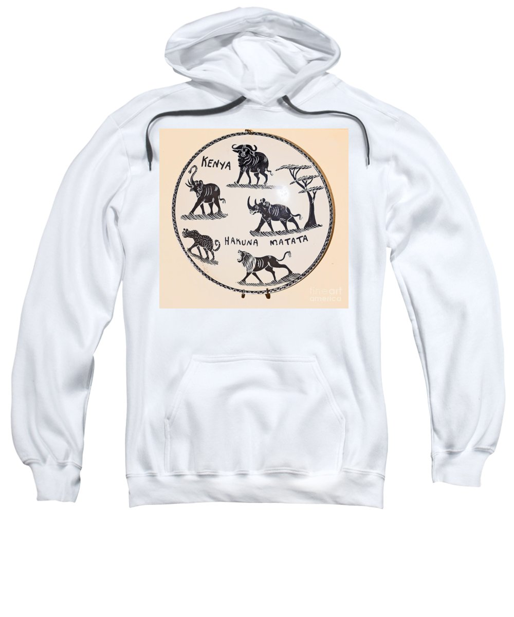 Animals Sweatshirt featuring the photograph Kenya Animals by Jay Milo