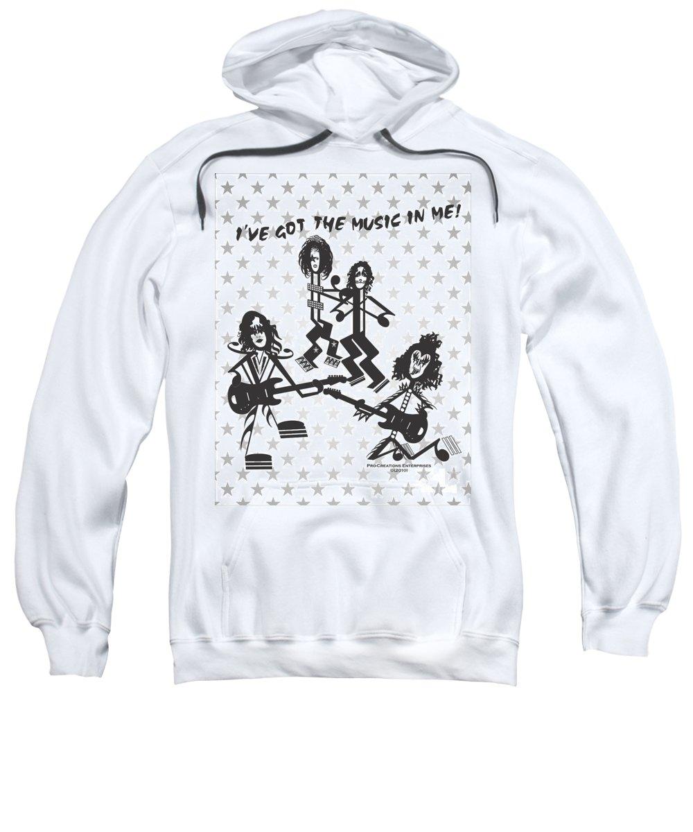 Digital Sweatshirt featuring the digital art Kiss by Maria Watt