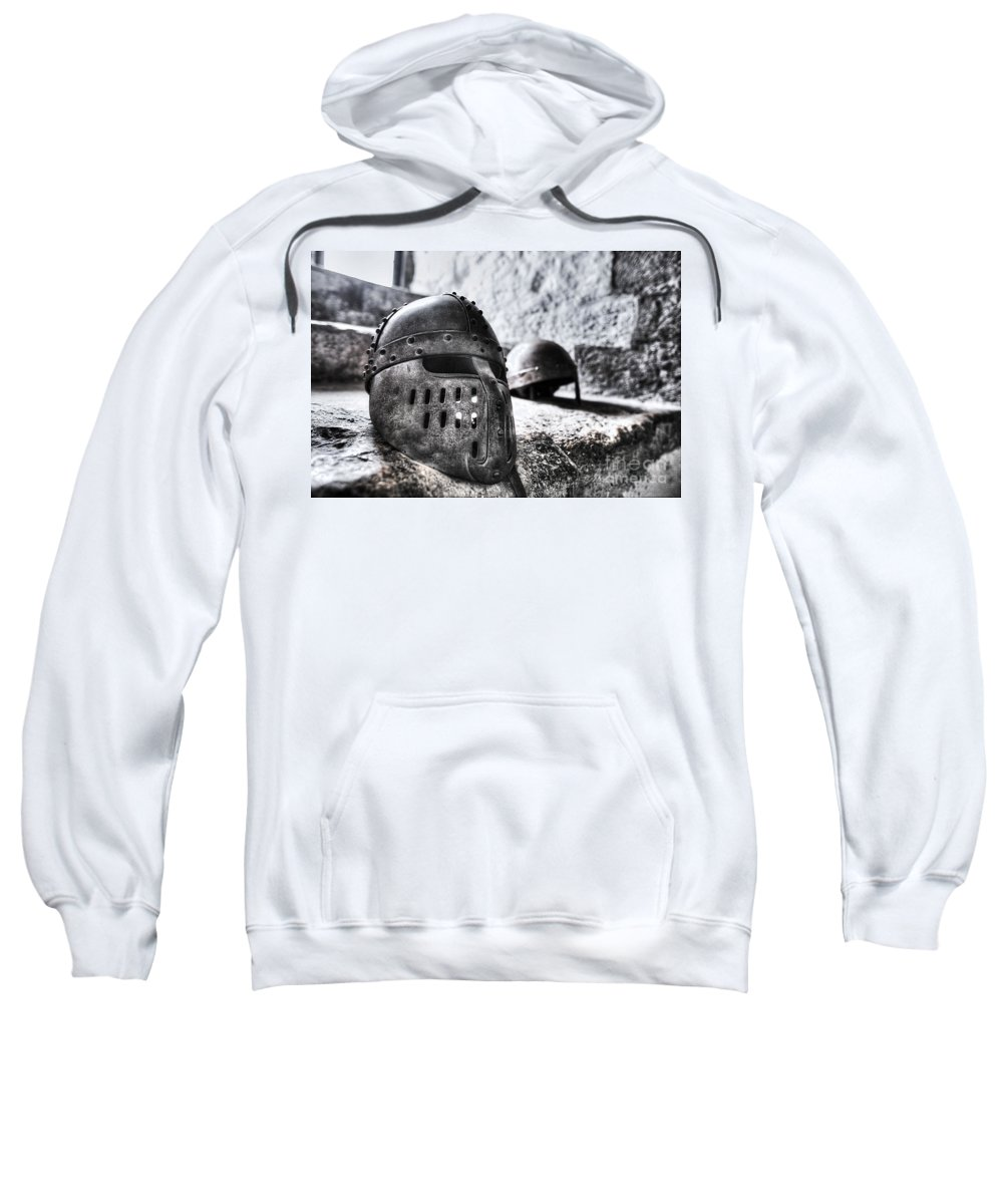 Knights Sweatshirt featuring the photograph Knight Helmet by Traci Law