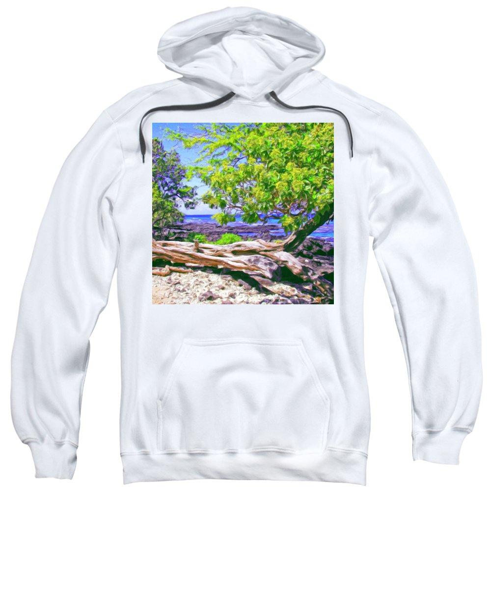Hawaii Sweatshirt featuring the painting Kona Coast by Dominic Piperata