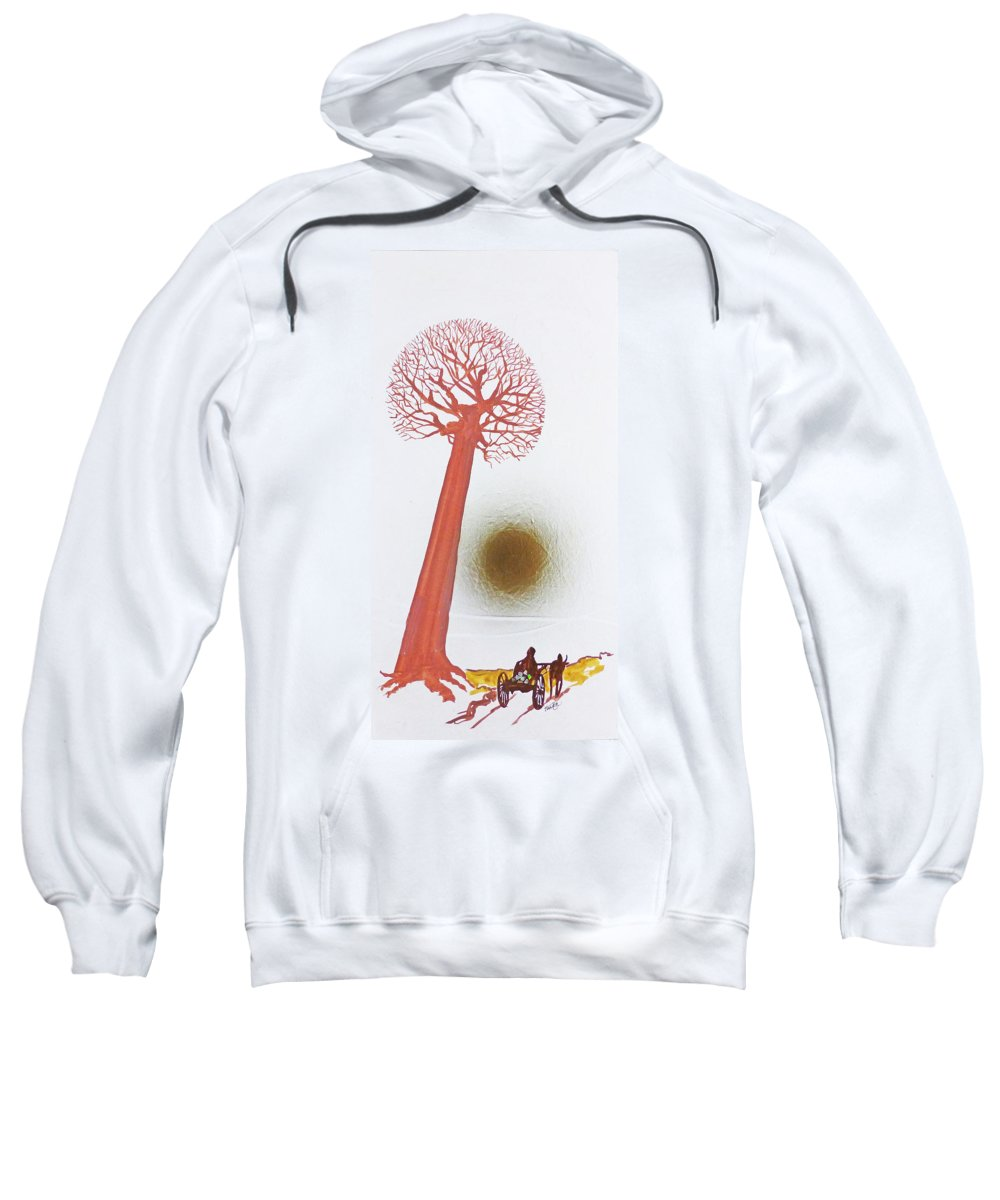 Hanzer Fineart Sweatshirt featuring the painting Laden With Gold by Jack Hanzer Susco