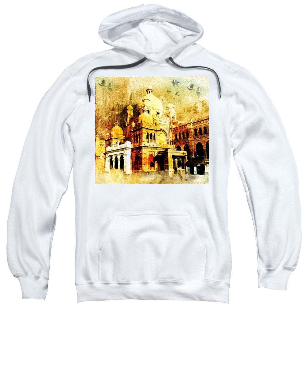 Pakistan Sweatshirt featuring the painting Lahore Museum by Catf