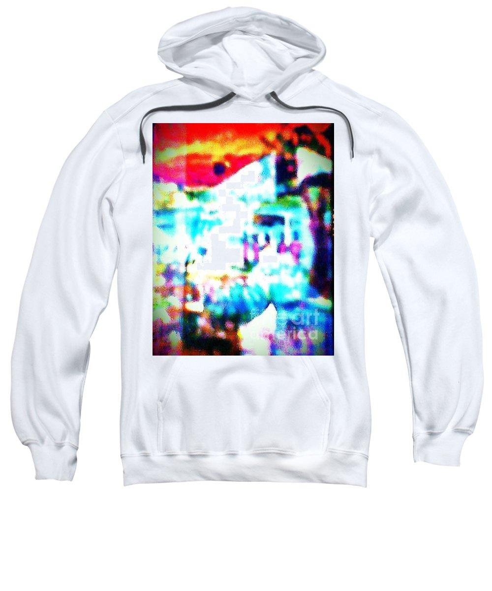 Students Sweatshirt featuring the mixed media Lakeside by Ayyappa Das