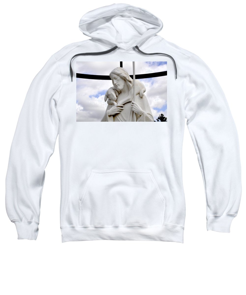 Lamb-of-god Sweatshirt featuring the photograph Lamb Of God Jesus Christ Torso by Sally Rockefeller