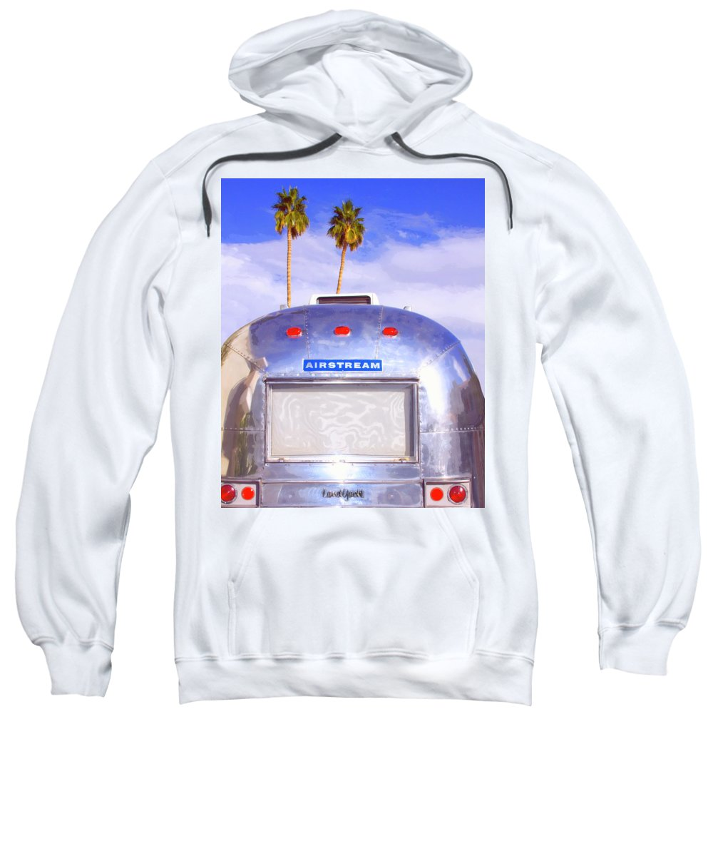 Airstream Sweatshirt featuring the photograph Land Yacht Palm Springs by William Dey