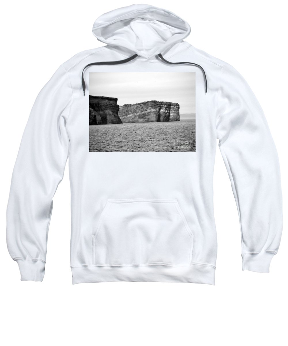 Rock Sweatshirt featuring the photograph Layers Of Bedrock by Barbara Griffin