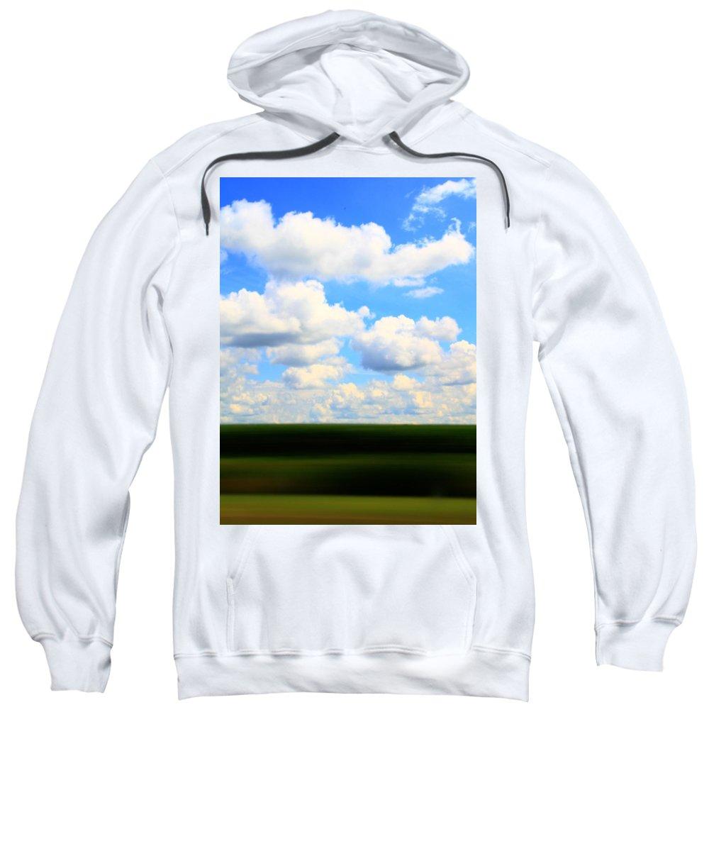 Layers Of Summer In Ohio Sweatshirt featuring the photograph Layers Of Summer In Ohio by Dan Sproul