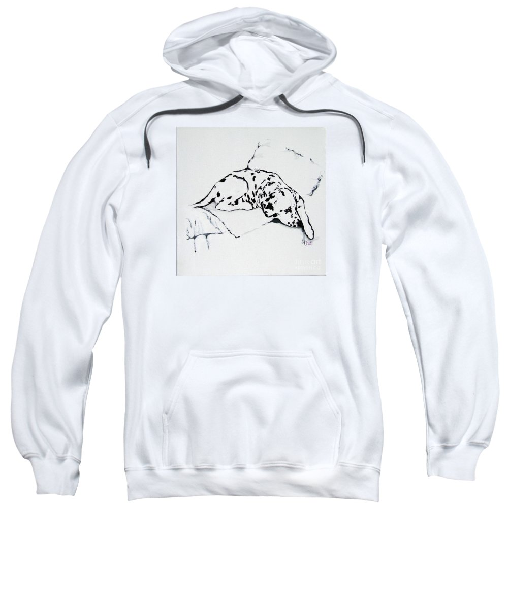 Dogs Sweatshirt featuring the painting Lazy Day by Jacki McGovern