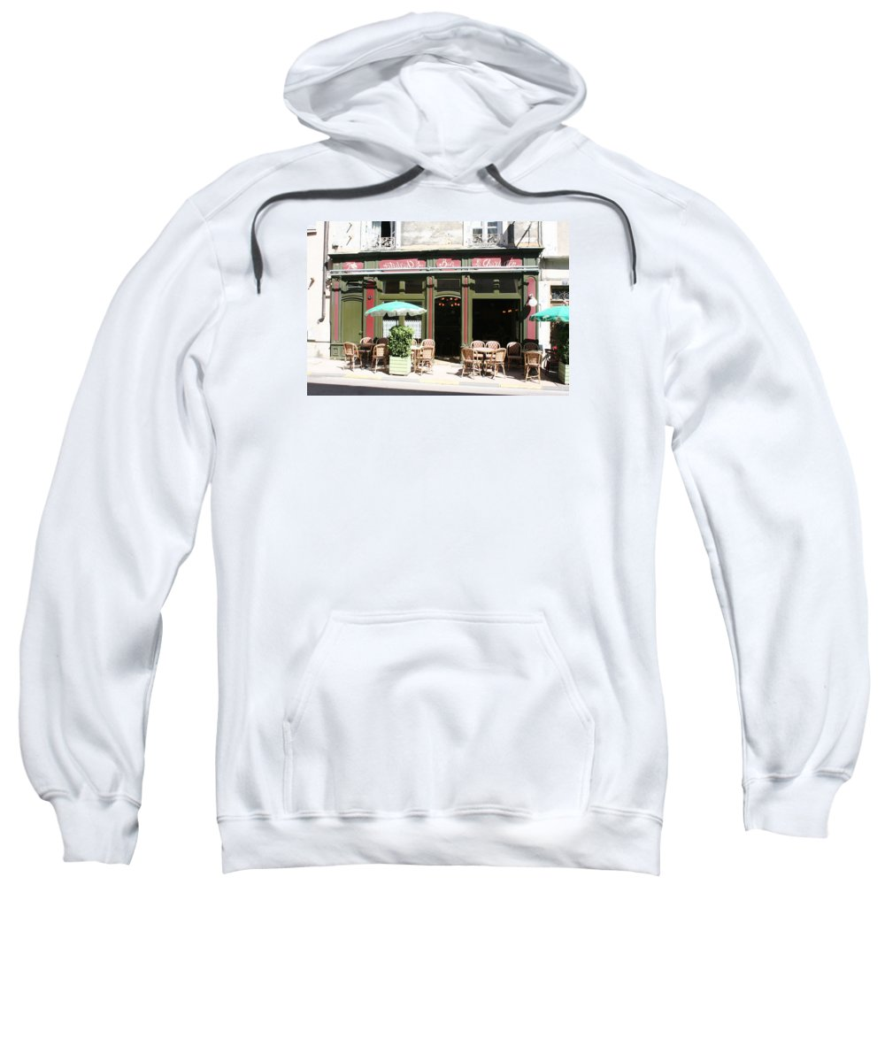 Bistro Sweatshirt featuring the photograph Le Charleston Bar In Tournus by Christiane Schulze Art And Photography