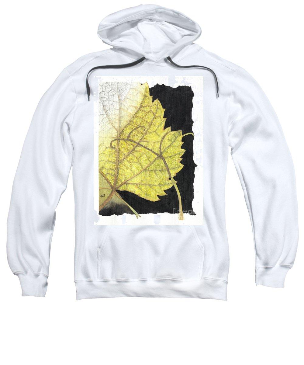 Foliage Sweatshirt featuring the painting Leaf by Elena Yakubovich