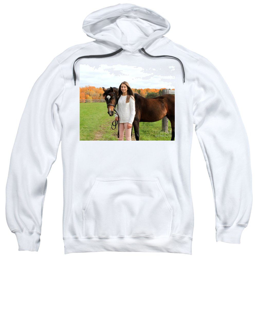 Sweatshirt featuring the photograph Leanna Abbey 10 by Life With Horses