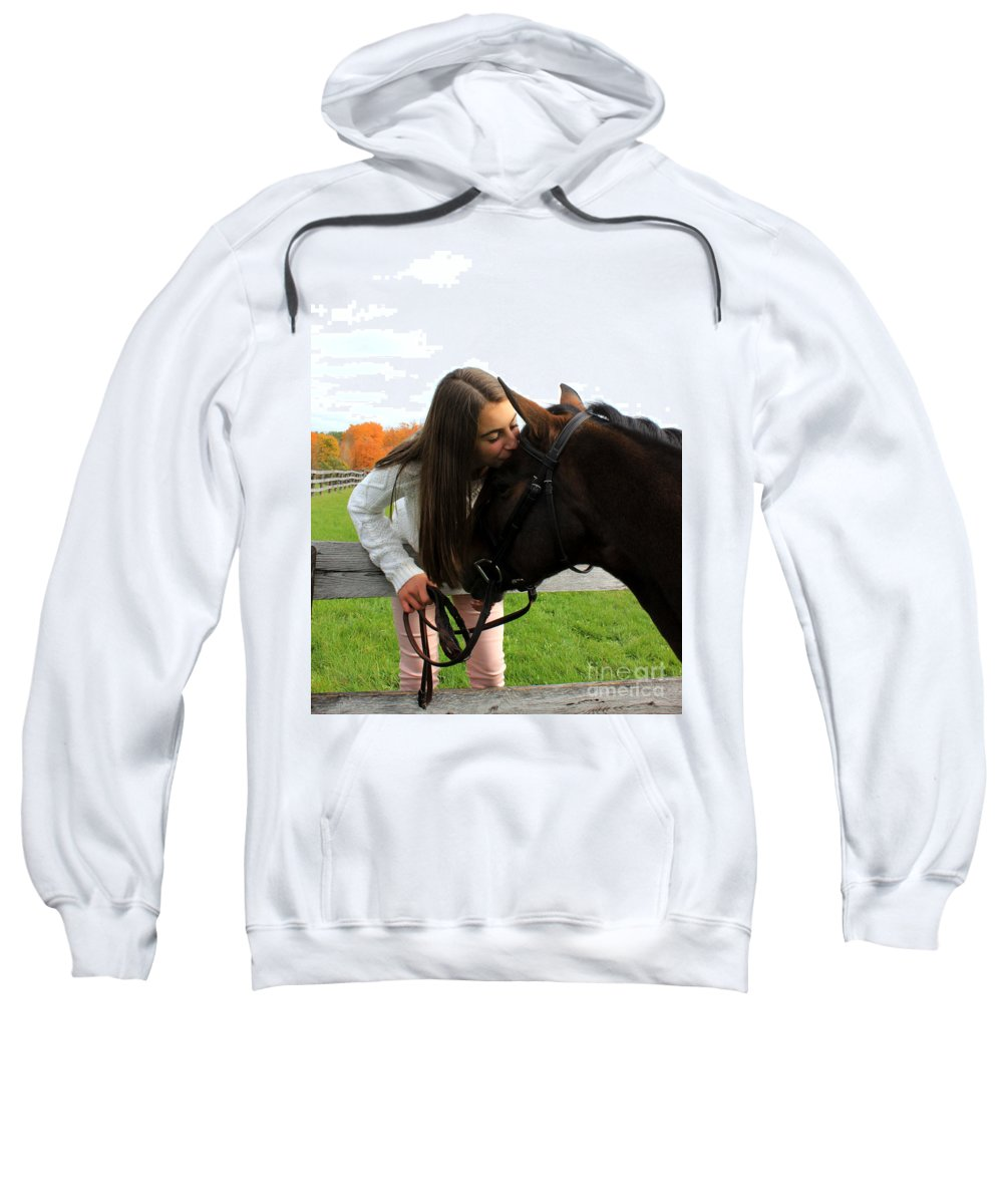 Sweatshirt featuring the photograph Leanna Abbey 13 by Life With Horses