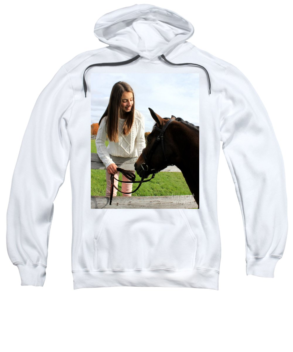 Sweatshirt featuring the photograph Leanna Abbey 14 by Life With Horses