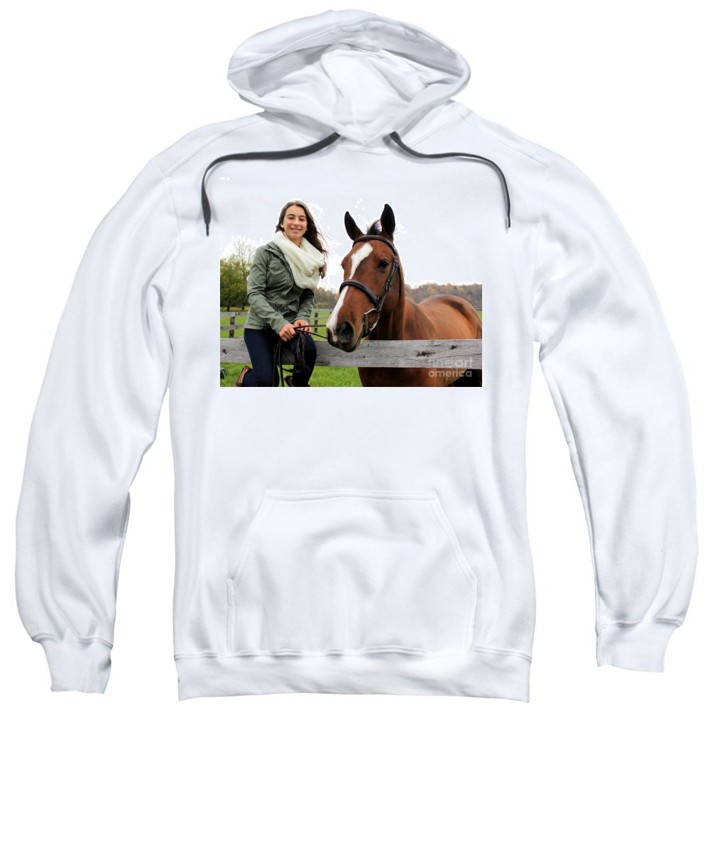 Sweatshirt featuring the photograph Leanna Gino 11 by Life With Horses