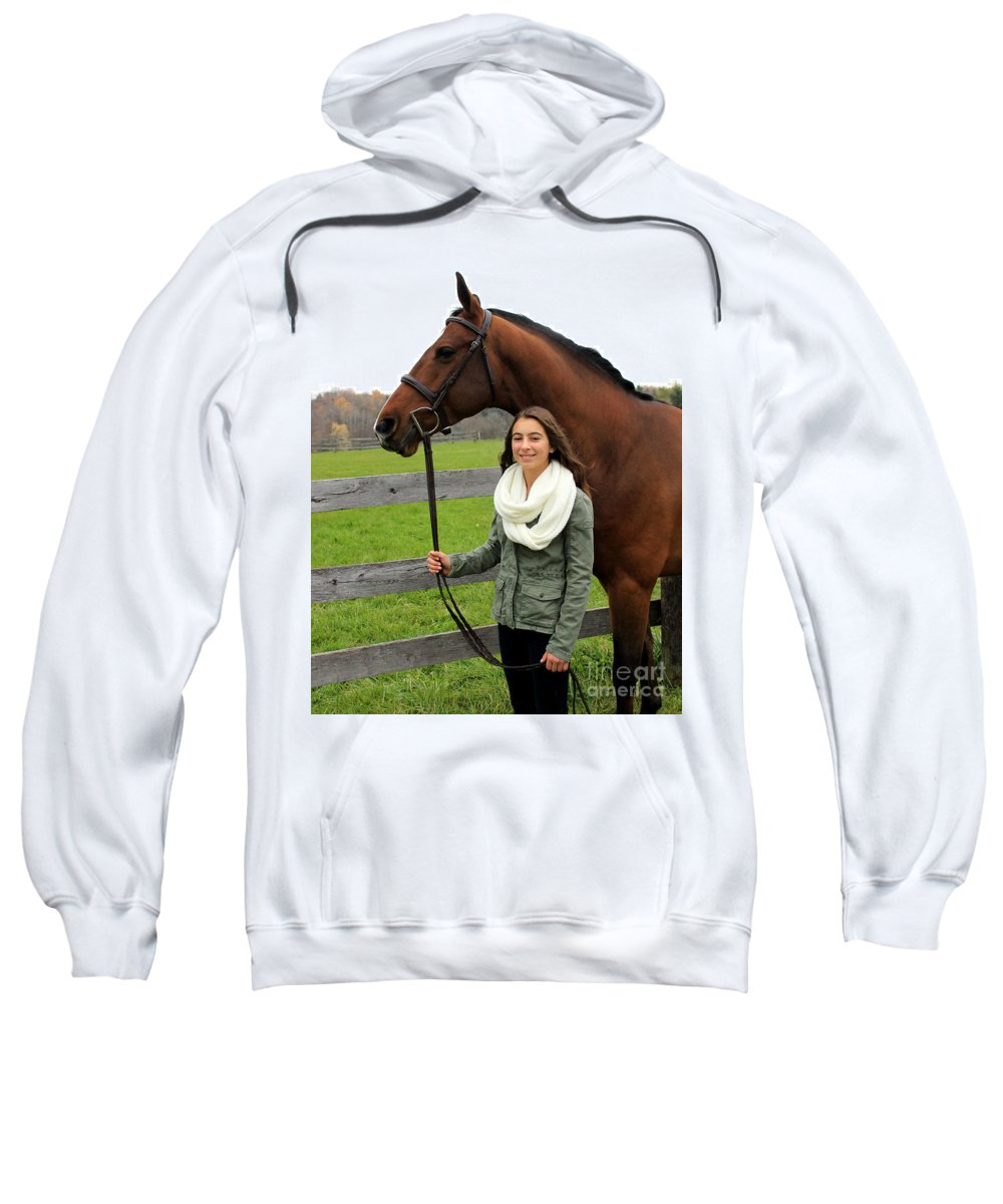 Sweatshirt featuring the photograph Leanna Gino 18 by Life With Horses