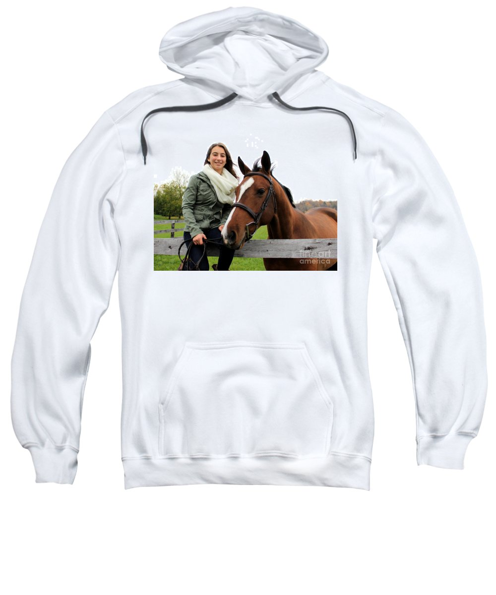 Sweatshirt featuring the photograph Leanna Gino 19 by Life With Horses