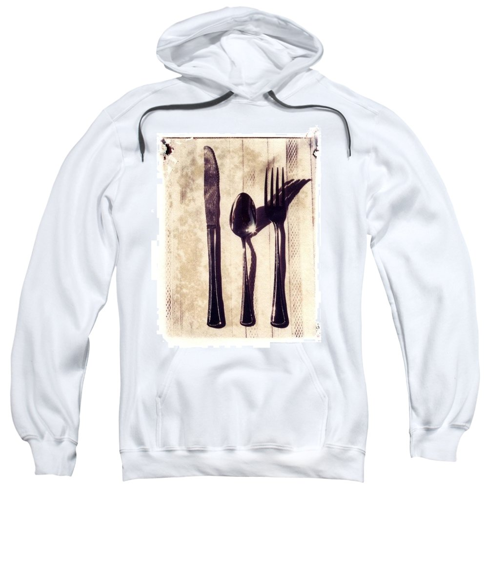 Forks Sweatshirt featuring the photograph Lets Eat by Jane Linders