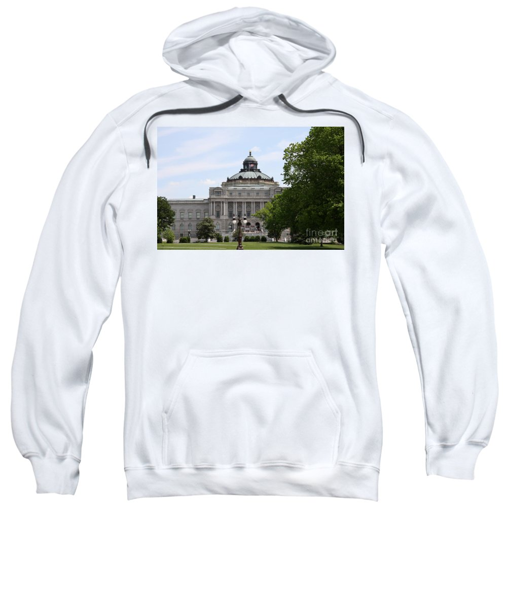 Library Of Congress Sweatshirt featuring the photograph Library Of Congress - Thomas Jefferson Building by Christiane Schulze Art And Photography
