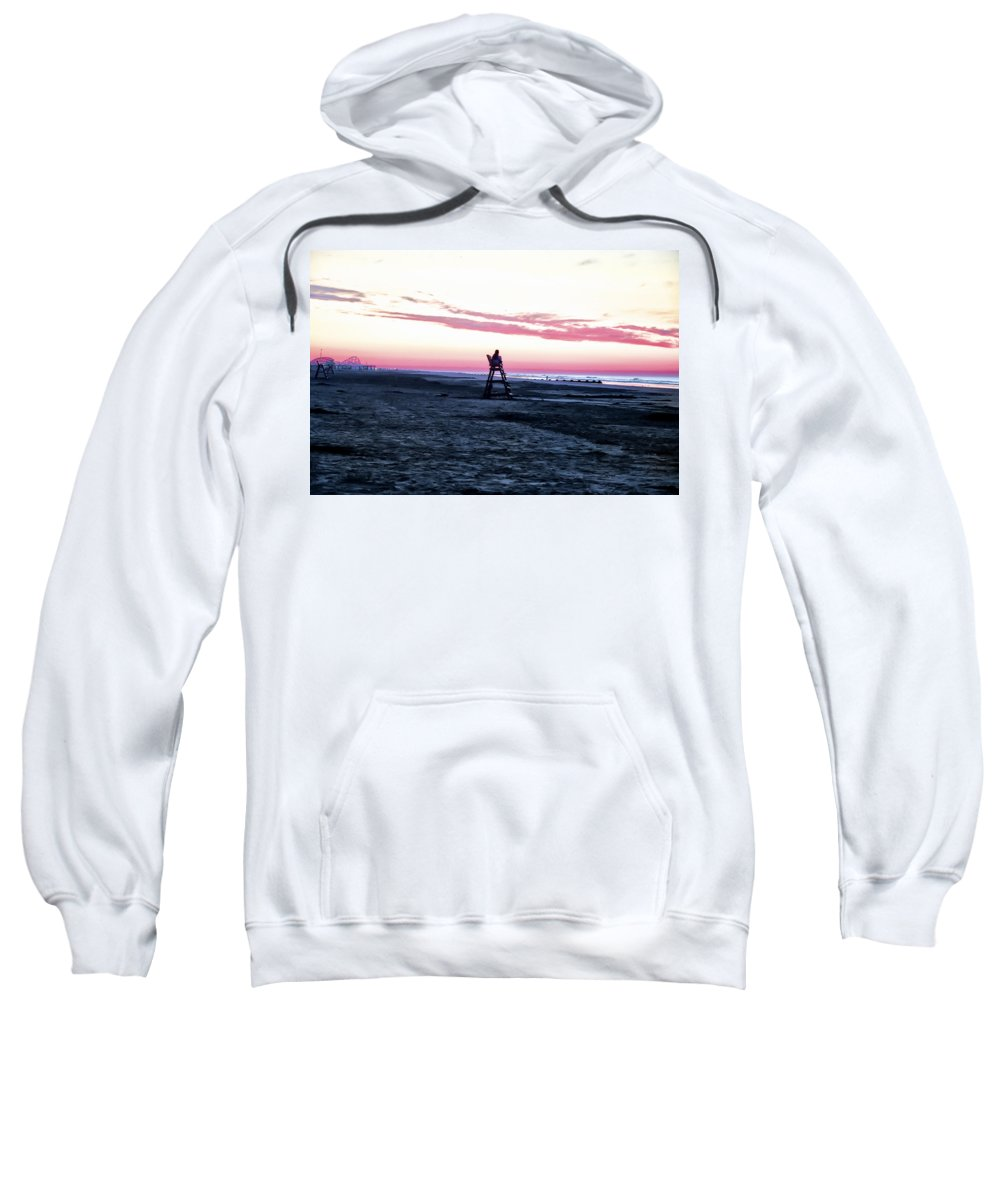 Life Is A Beach Sweatshirt featuring the photograph Life Is A Beach by Bill Cannon