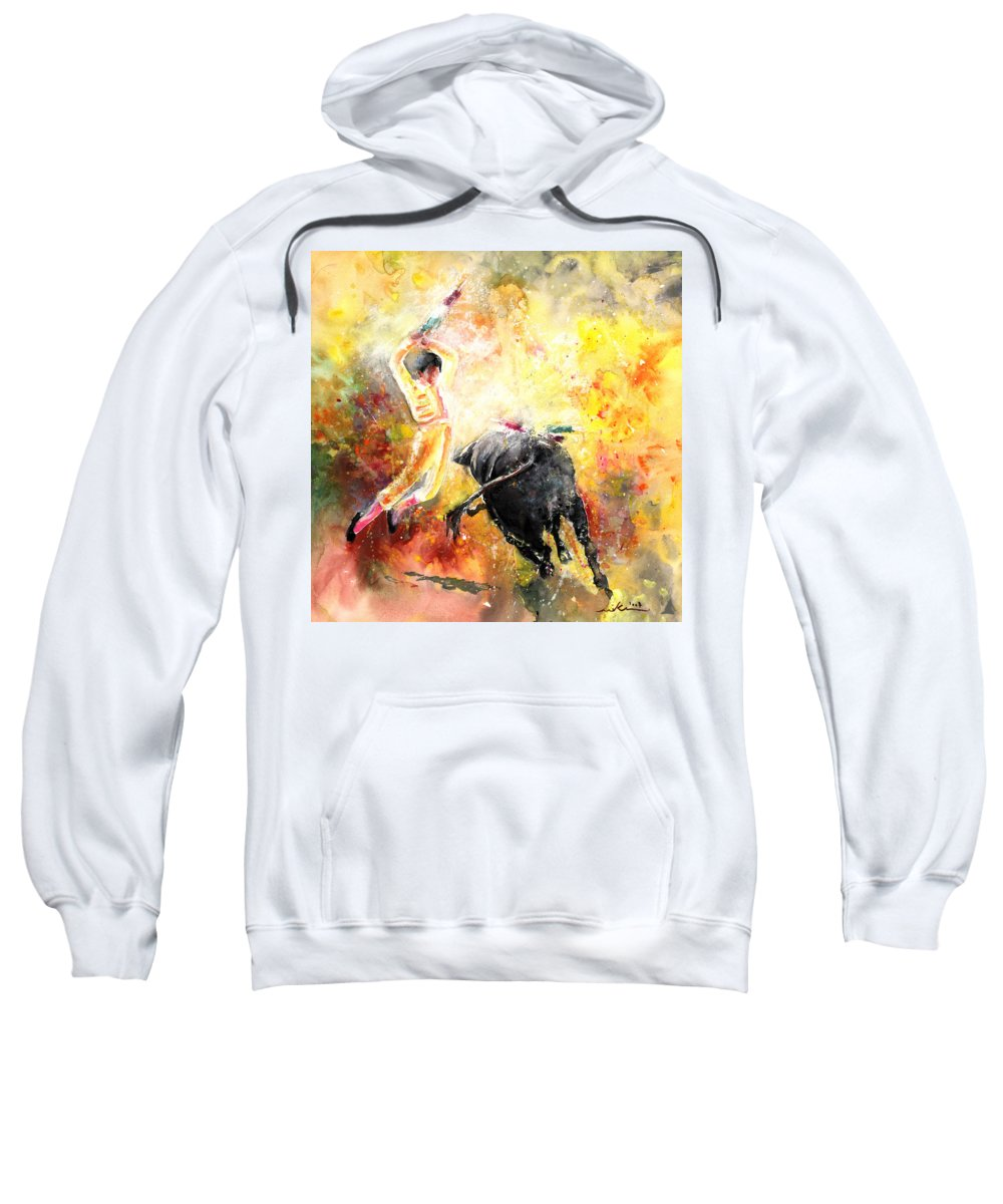 Animals Sweatshirt featuring the painting Lightning Strikes by Miki De Goodaboom
