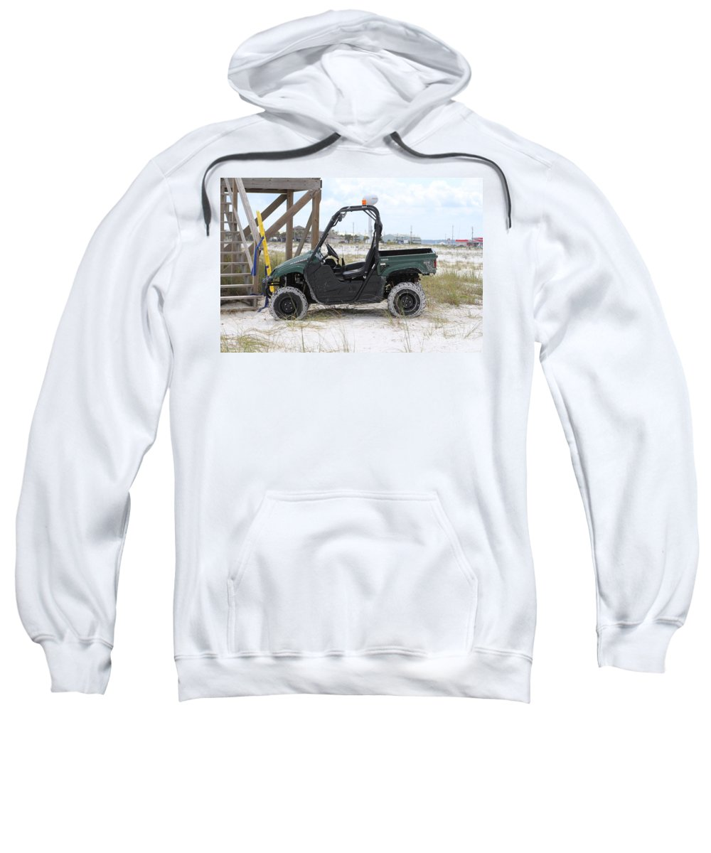 Ft.walton Beach Sweatshirt featuring the photograph Lil Beach Jeep by Michelle Powell