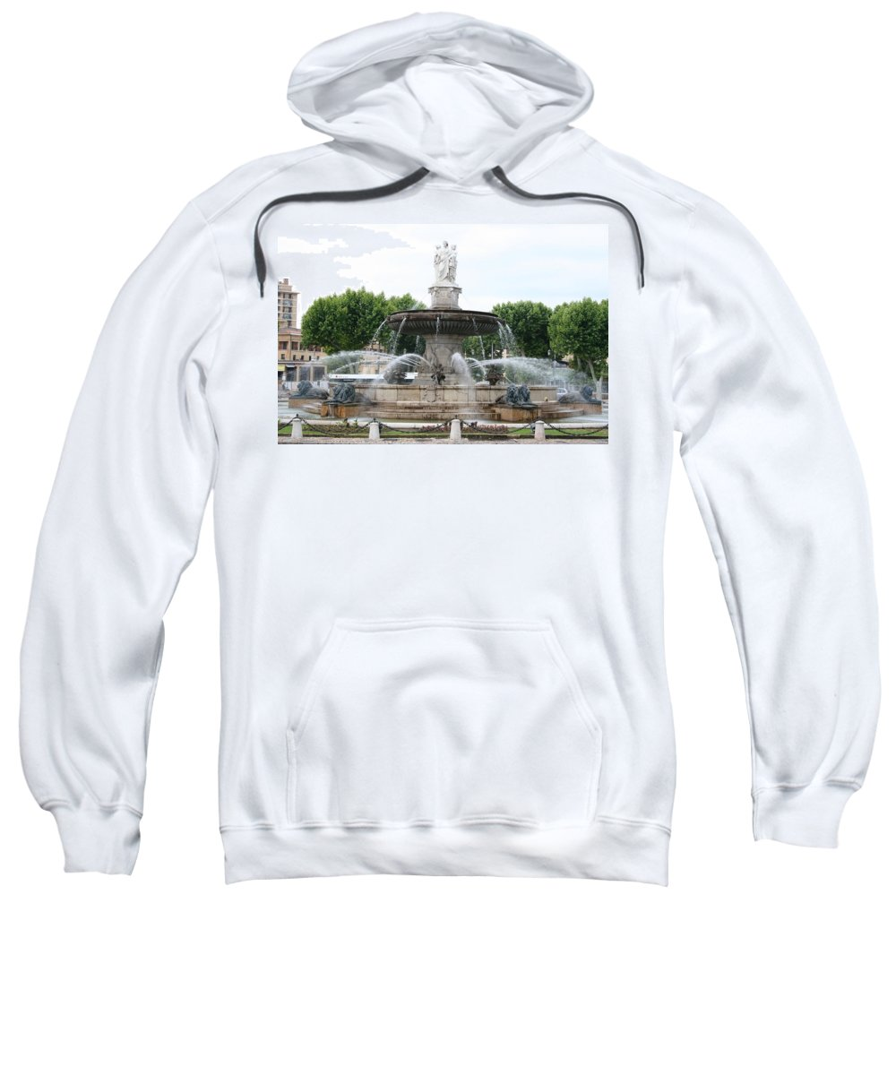 Fountain Sweatshirt featuring the photograph Lion Fountain - Aix En Provence by Christiane Schulze Art And Photography