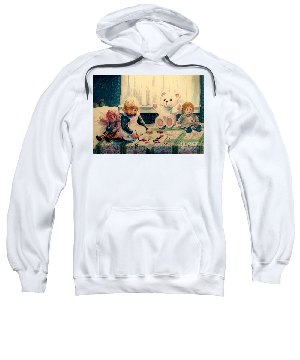 Children Sweatshirt featuring the painting Little Artist by Marilyn Smith