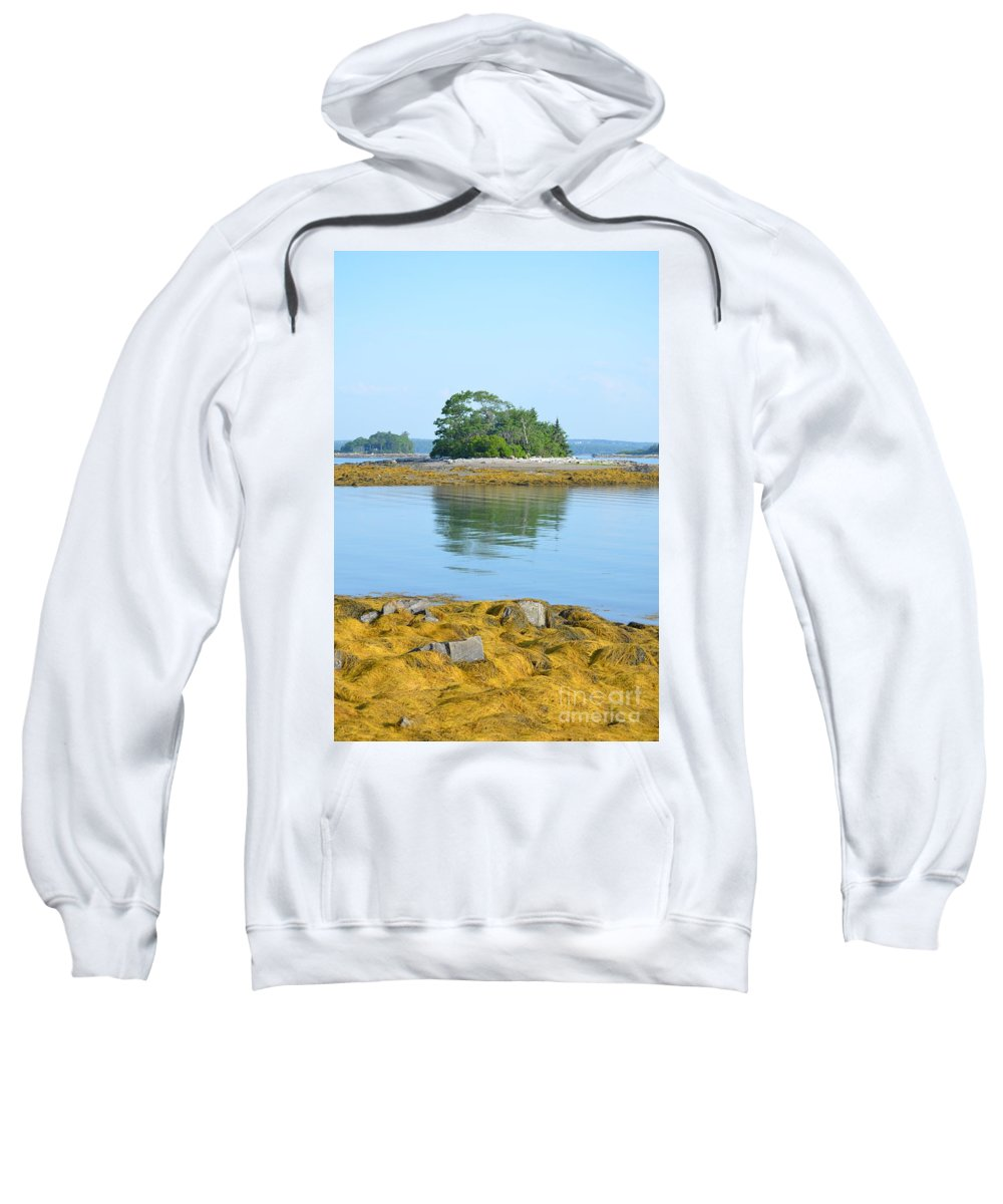 Little Frenches Sweatshirt featuring the photograph Little French Island In Maine by DejaVu Designs
